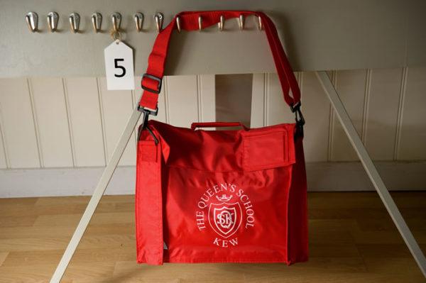 Queens School book bag