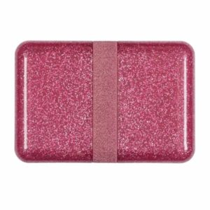 A Little Lovely Company Pink Glitter Lunch Box