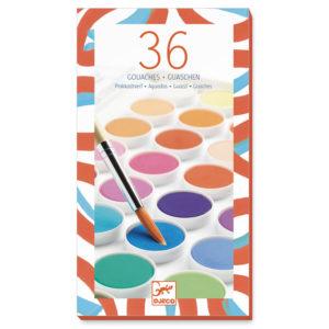 Djeco 36 Colour Gouaches