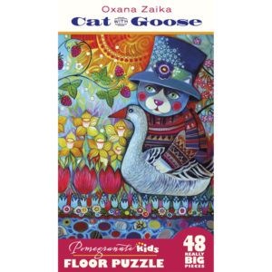 Pomegranate Cat with Goose 48pc Floor Puzzle