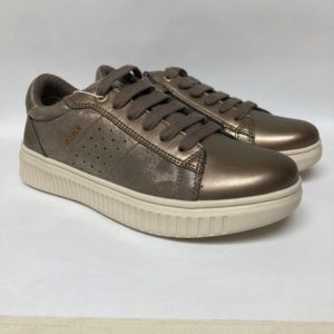 Geox Girl's Leather Trainer