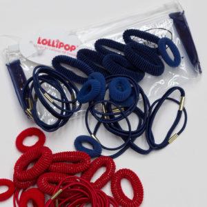 Lollipop Zip Bag Mixed Hair Elastics and Bobbles