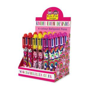 Rachel Ellen 6 Colour Pen Girl Assorted