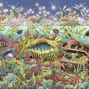 Ravensburger Underwater Kingdom at Dusk 1000pc Puzzle