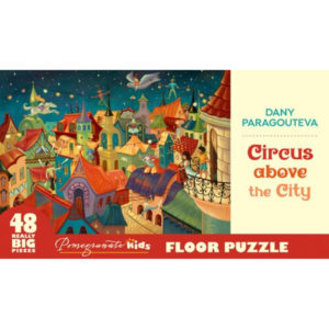 Pomegranate Circus above the City 48pc Floor Puzzle