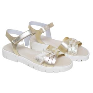 Beberlis Golden Sandals