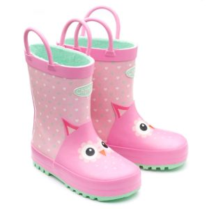Adore Owl Wellington Boot with Handles