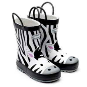 Zebra Wellington Boot with Handles