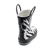 Zebra Wellington Boot with Handles