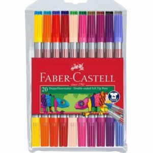 Faber Castell Double Ended Felt Tip Pens Wallet of 20
