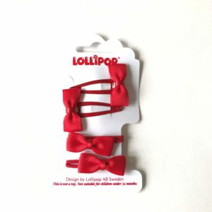 Lollipop Hair Accessories Bow Bobble and Bow Clip Set