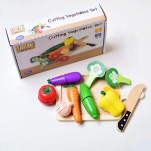 Tidlo Wooden Cutting Vegetables